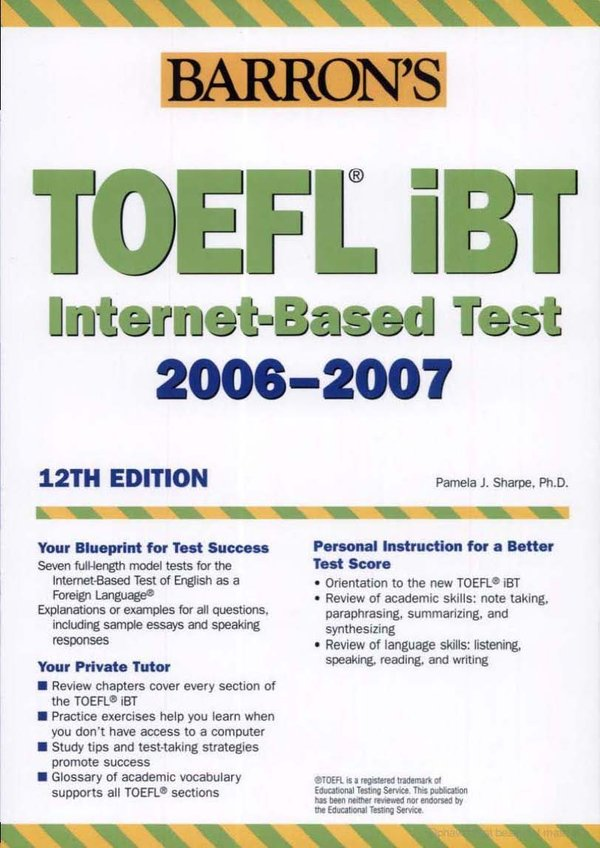 《巴郎新托福iBT综合指导与模拟试题》(How to Prepare for the TOEFL iBT with Audio CDs)12ed(附10CD与模拟试题)[光盘镜像]