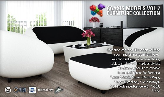 《CGAxis出品3DS MAX模型合集(更新Vol.10)》(CGAxis Models Collection Furniture)[光盘镜像]