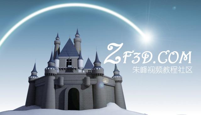 迪士尼城堡3d模型下载