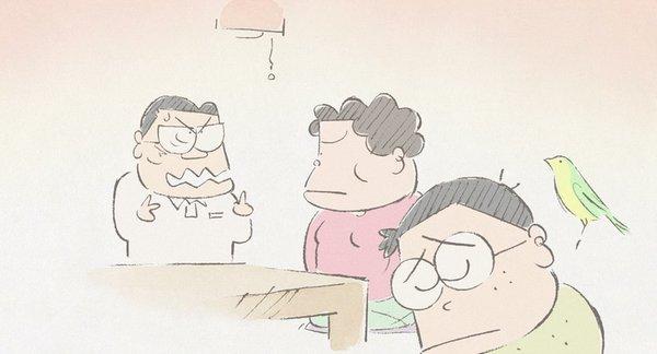 这个由铅笔画出的山田一家人正是日本家庭的素描