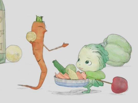 活跃着大量被拟人化的蔬菜妖精们