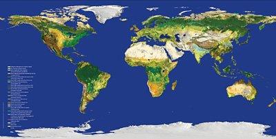 有经纬度的世界地图