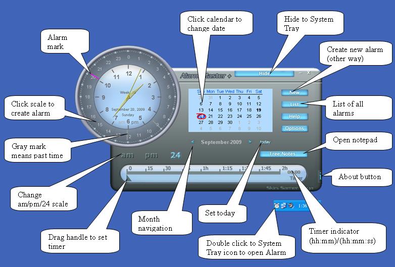 其中包含报警时钟,计划表,定时器和日历.