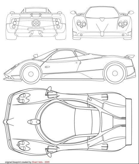 求汽车建模三视图图片大全 我又找到了建模用的三视图 在高清图片