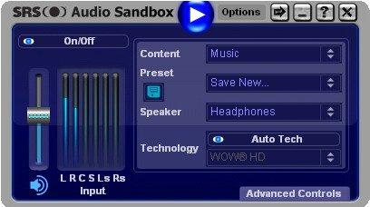 Srs audio sandbox manual