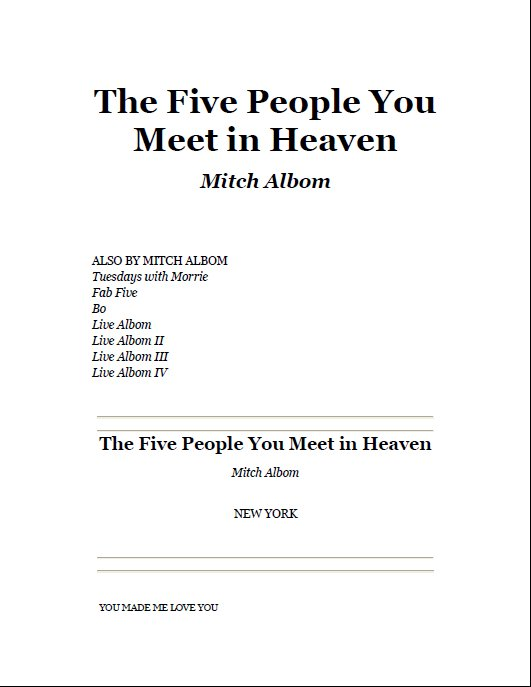 five people you meet in heaven pdf