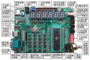 实验板 C语言 视频教程》AVR_PQ1A开发板,ATmega16单片机 ...