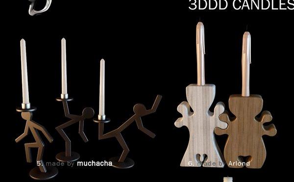 《3DDD 高精度烛台模型》