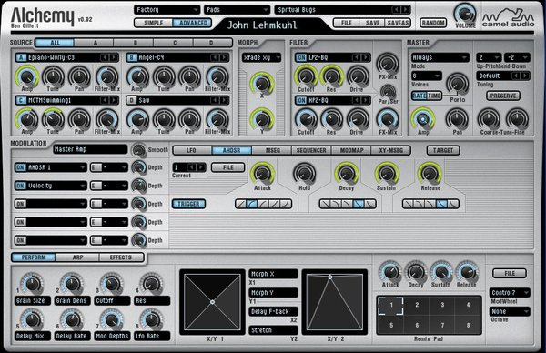 spectral morphing resynthesis In addition to its graphics-related features, metasynth is a massive synthesis powerhouse, with tools for spectral analysis followed by multiple types of resynthesis, spectral morphing, sample processing, a variety of traditional synthesis techniques, effects, and much more.