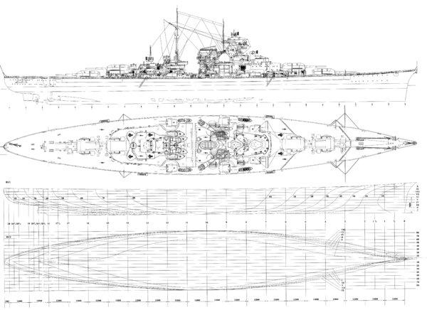 战舰图片简笔画