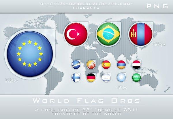 世界各国国旗与地区区旗图标及壁纸
